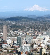 aerial view of Salem, Oregon